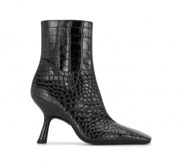 Crocodile-effect Ankle Boots by Simon Miller