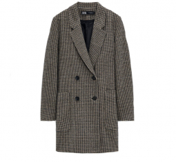 Houndstooth Coat by Zara